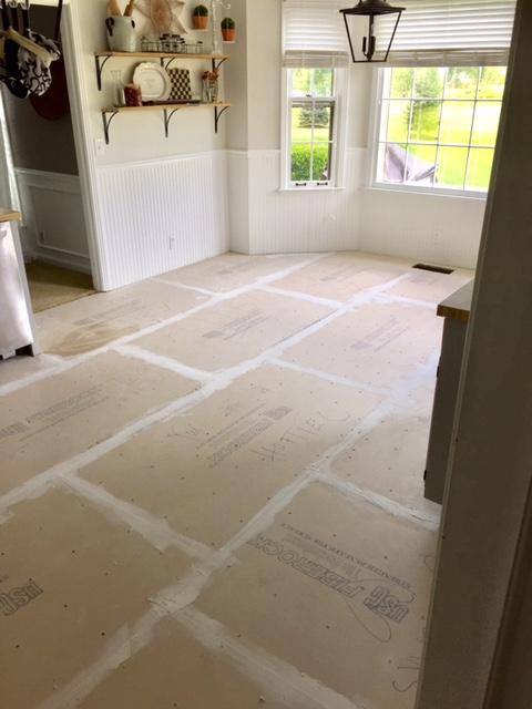 Tiling The Kitchen Floor R E F I N I N G C O T T E N